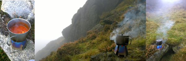 Vargo Outdoors Titanium Ti-900 Mug in the Cooley Mountains, and Mourne Mountains