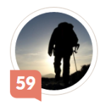 Best Walks' Klout Score 59 (c)2016 David Marshall & Klout