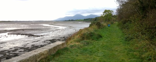 Ulster Way at Dundrum Bay, Co. Down. Mourne Mountains in the distance (c)2016 David Marshall